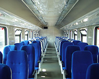 The interior of interregional car