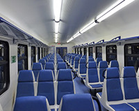 Interior of suburban electric trains