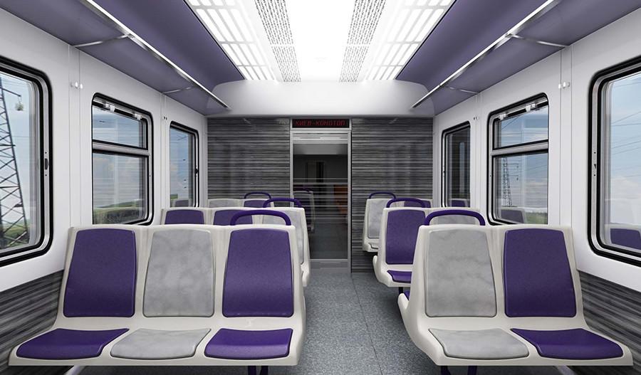 Модернизация интерьера дизель-поезда ДР1