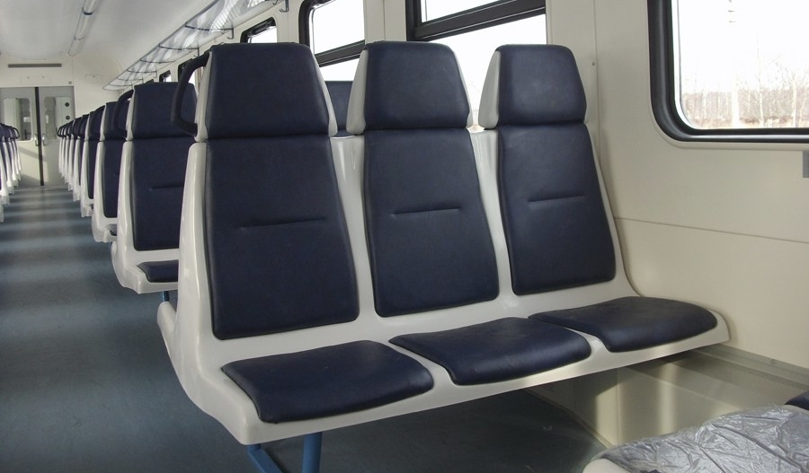 Third class seats of fiberglass reinforced plastic