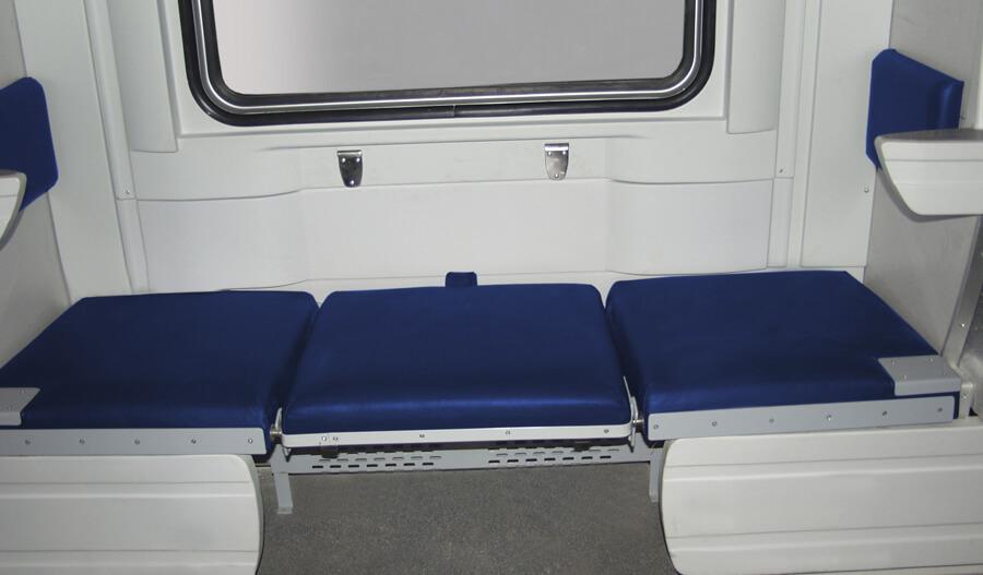 Интерьер плацкартного вагона