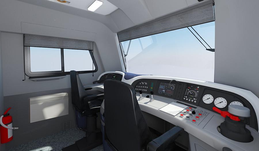 Control cabinets of the locomotive 2T116U