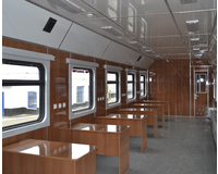 The interior of the training car