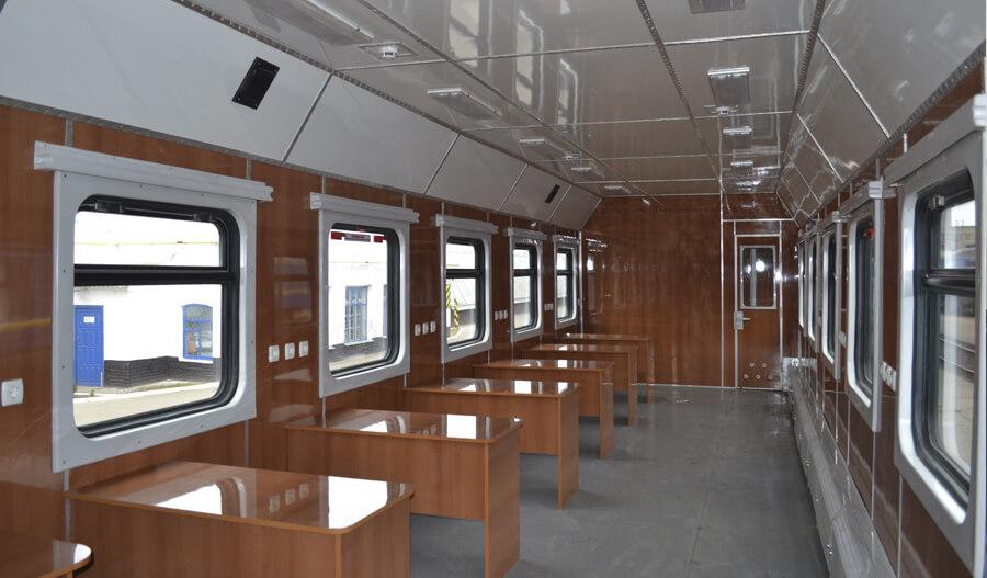 Интерьер вагона-тренажера