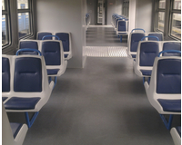 Interior of urban electric trains