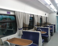 The interiors of passenger cars, electric and diesel trains