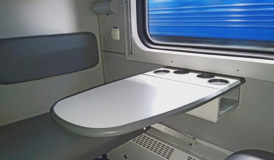 Интерьер купейного вагона