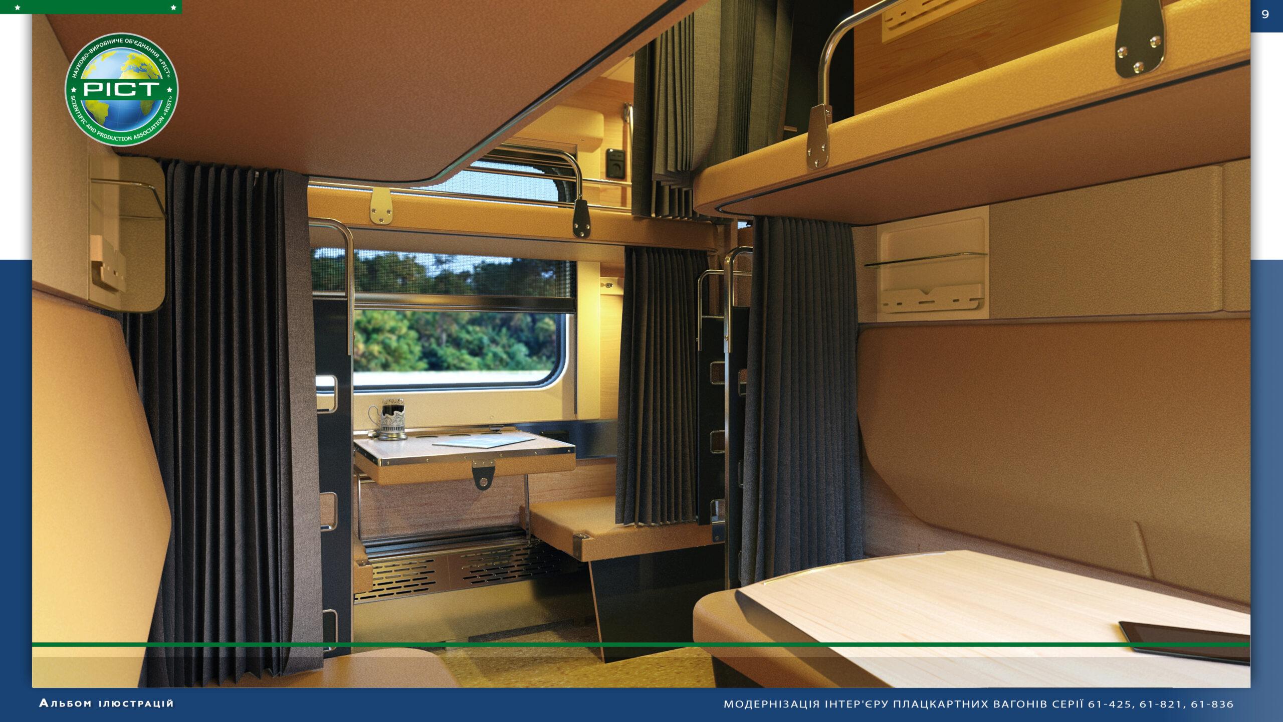 Modernization of the interior of econom-class train